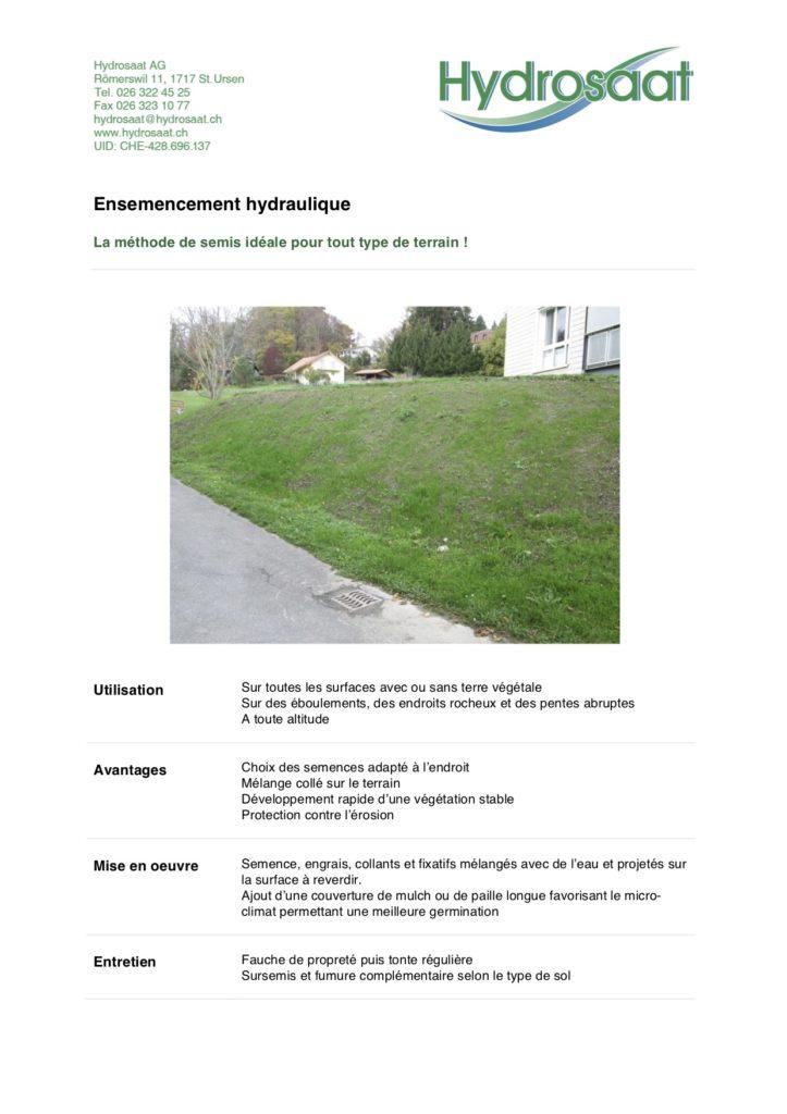 Ensemencement hydraulique