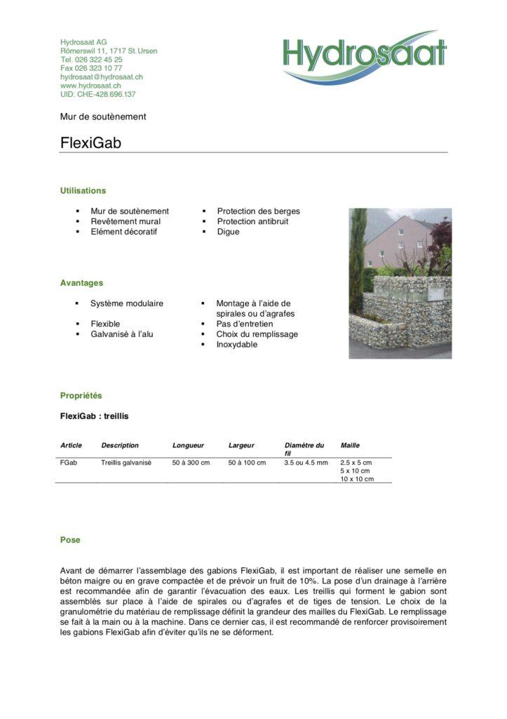 FlexiGab - mur de soutènement avec gabions