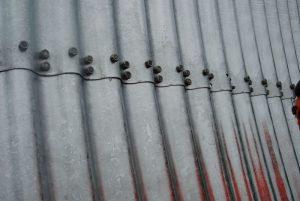 Détail d'une partie de la buse métallique