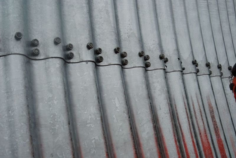 Detailansicht des Wellstahlrohres