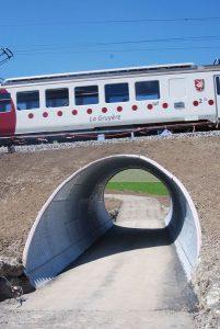 Le train peut désormais passer sur la buse métallique