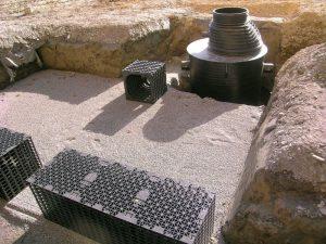 Stockage et infiltration des eaux de pluie à Vouvry