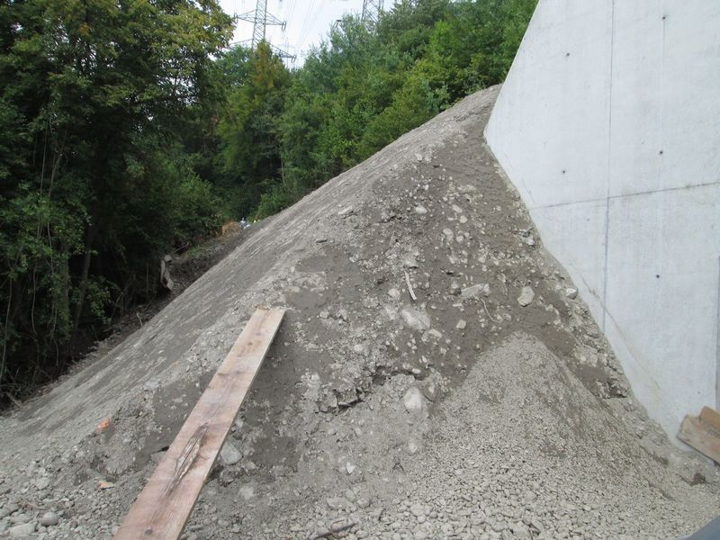 Auf diese Steilböschung wird Kokosgewebe EcoTex verlegt.