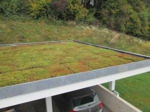 La pose est terminée, le toit vert