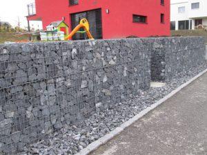 Mur de séparation en gabions, FlexiGab