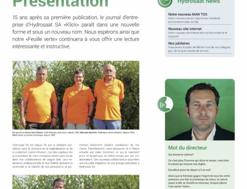 """Notre nouveau journal d'entreprise """"Feuille verte"""""""