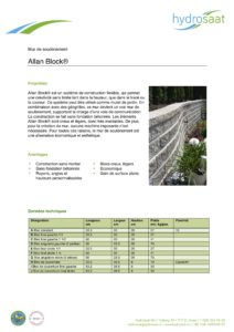 Allan Block - mur de soutènement