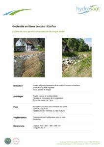EcoTex géotextile de coco
