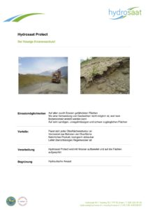 Hydrosaat Protect - Erosionsschutz