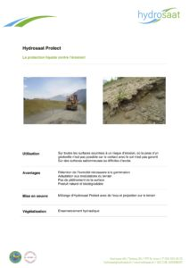 Hydrosaat Protect - protection liquide contre l'érosion