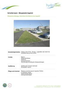 Schotterrasen - begrünter Mergelplatz