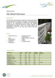 Allan Block Stützmauersystem