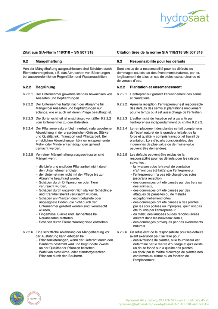 Citation norme SIA 118/318