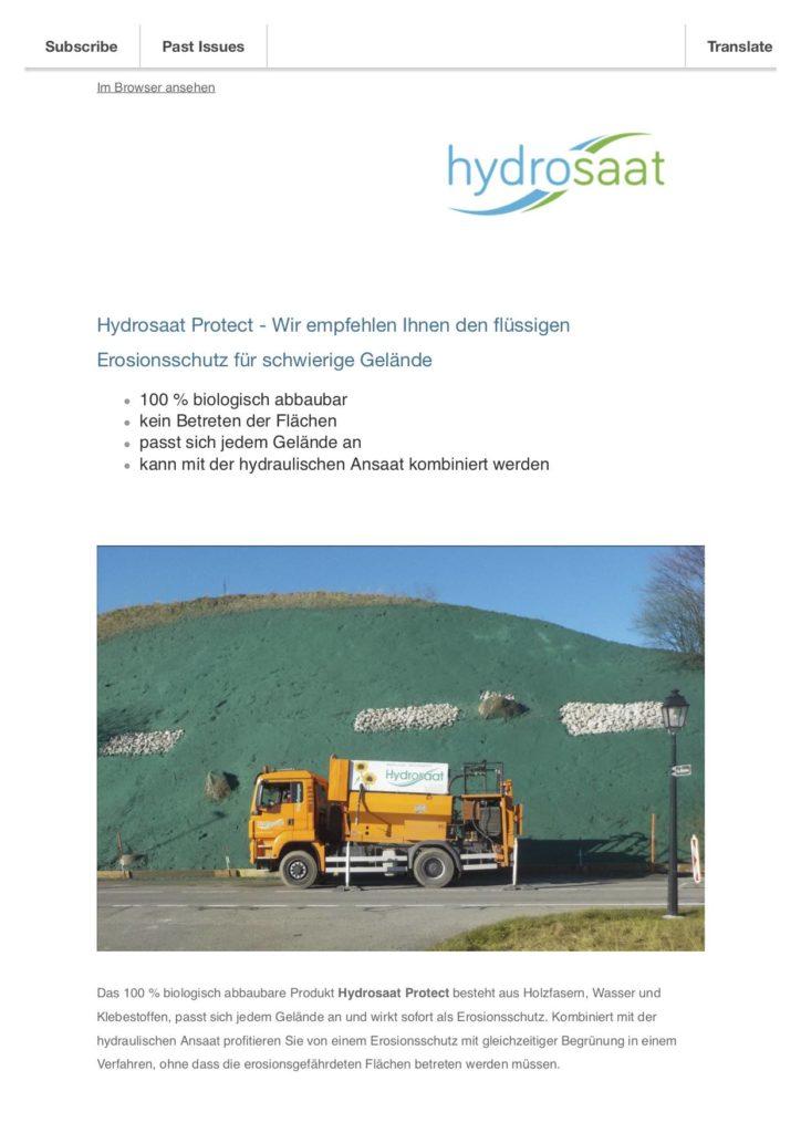 Hydrosaat Protect - Flüssiger Erosionsschutz
