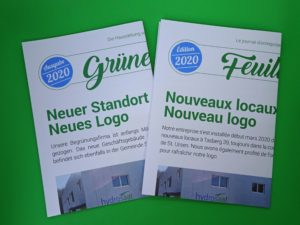 "Journal d'entreprise ""Feuille verte"""