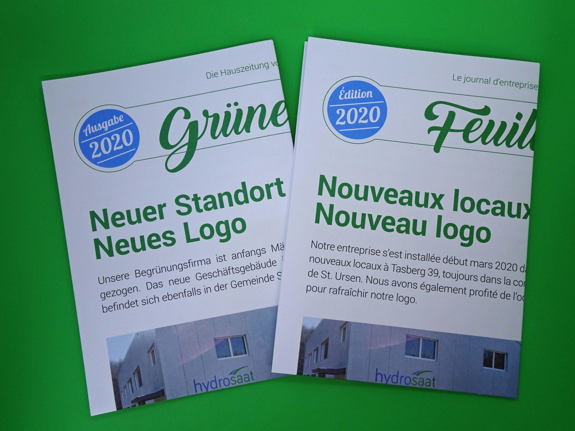 Hauszeitung Grünes Blatt 2020