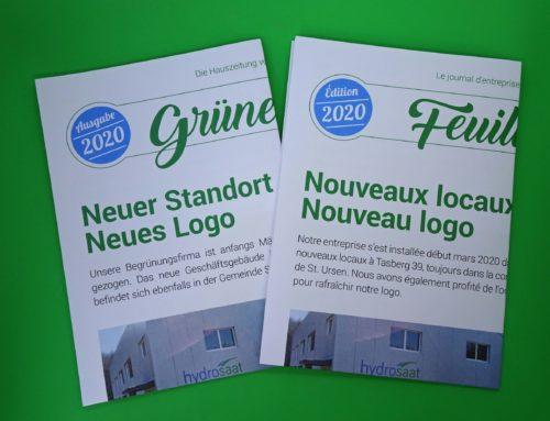 """Journal d'entreprise """"Feuille verte"""" édition 2020"""