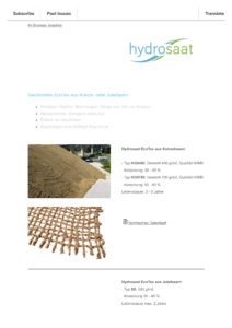 Newsletter Geotextilien EcoTex aus Kokos oder Jute