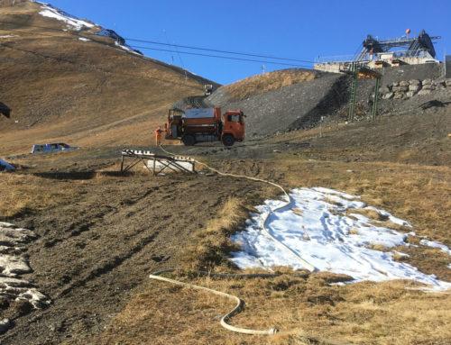 Hydraulische Ansaat – Zinal / Val d'Anniviers
