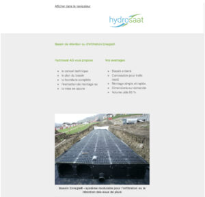 Enregis® - Système modulaire pour les eaux de pluie