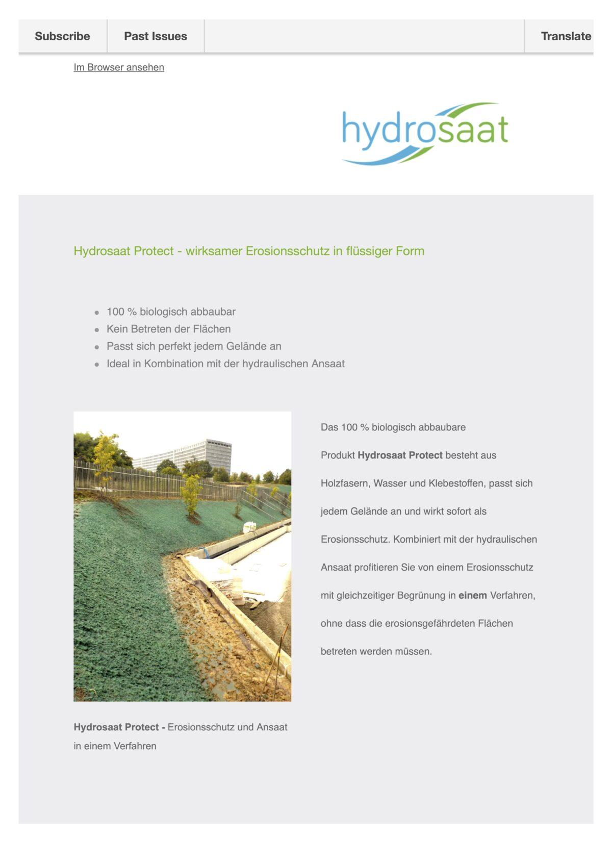 Hydrosaat Protect - der flüssige Erosionsschutz