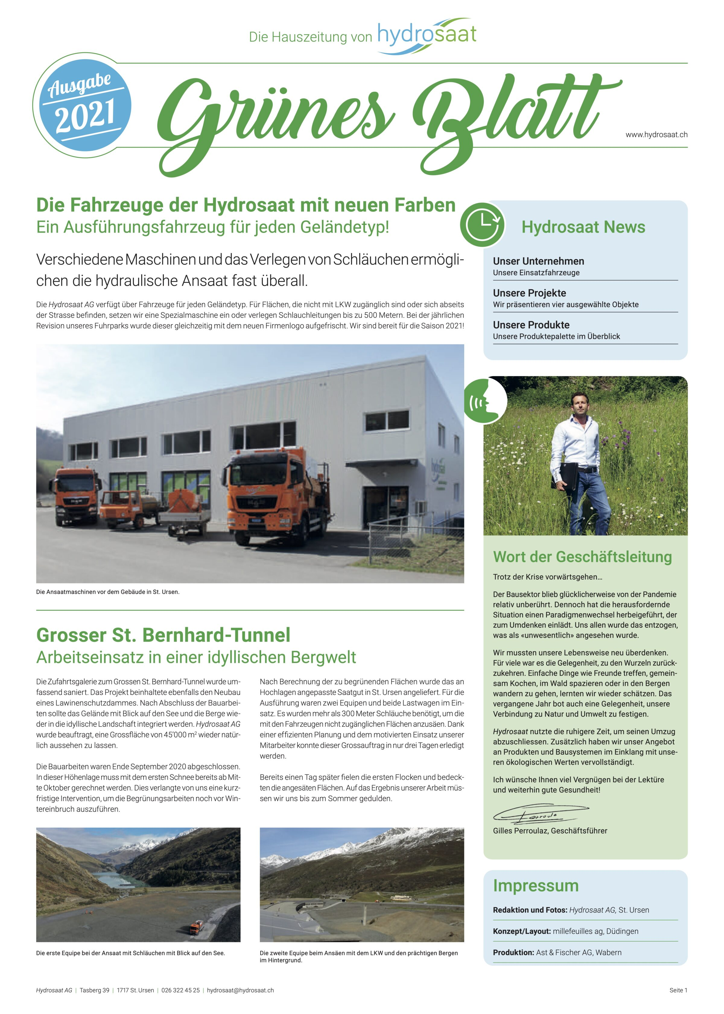 Hydrosaat Grünes Blatt 2021