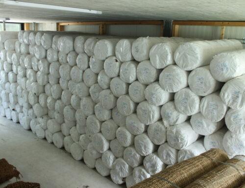 Grand stock de géotextiles EcoTex – disponible dans notre dépôt ou livrable sous 48 heures